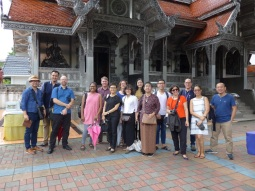 22 July 2017, an excursion in Wua Lai area guided by Pijika Pumketkao and Ajarn Komsan