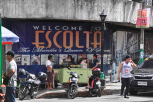 A tarpaulin campaign for the revival of Escolta (Source: Dr. Tessa Maria Guazon)