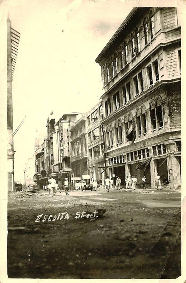 Escsolta St - 1945, post-Battle of Manila (Paul Eric Darvin, Manila Nostalgia)